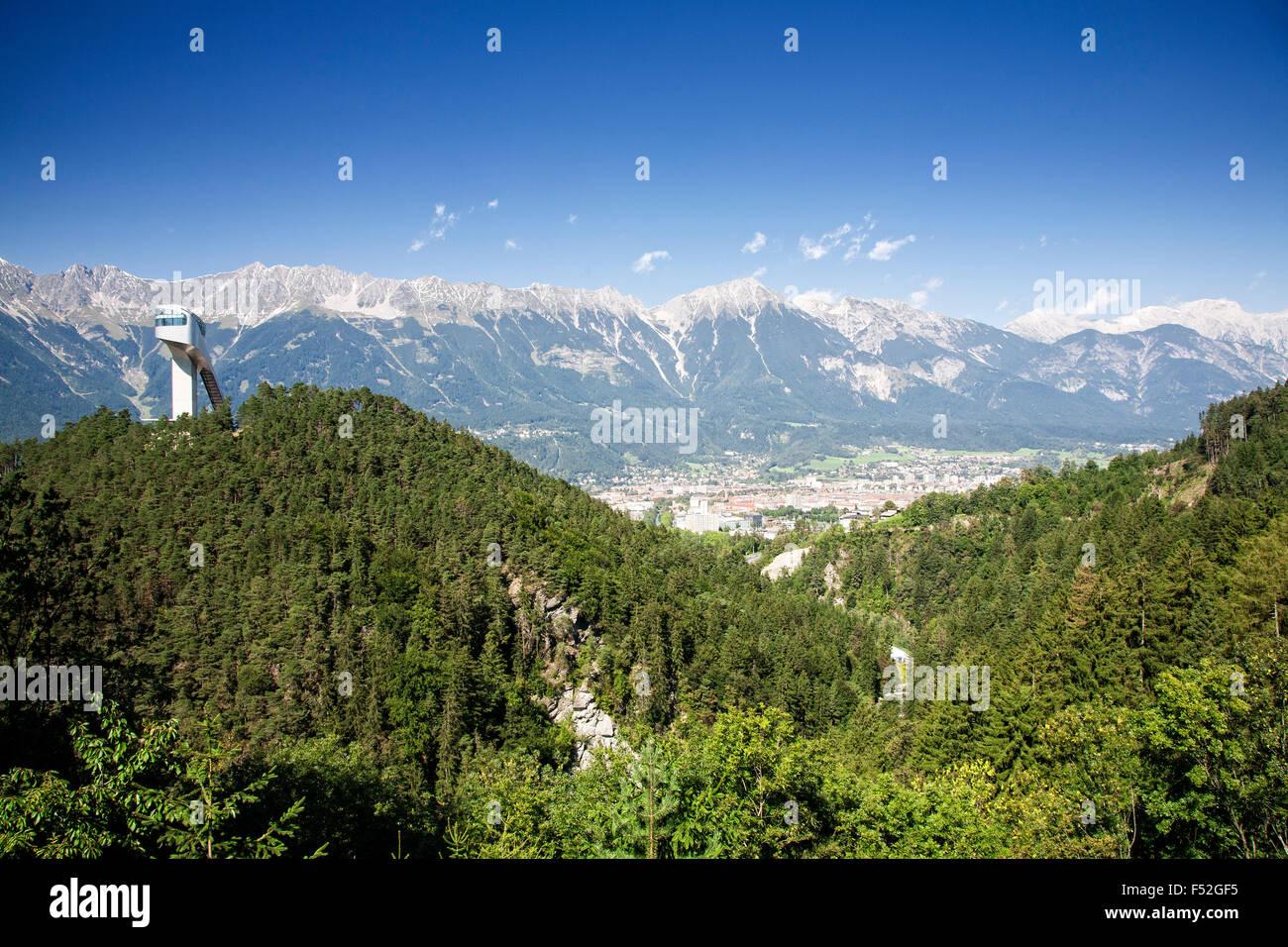 The Bergisel Ski Jump outside of Innsbruck Austria. - Stock Image