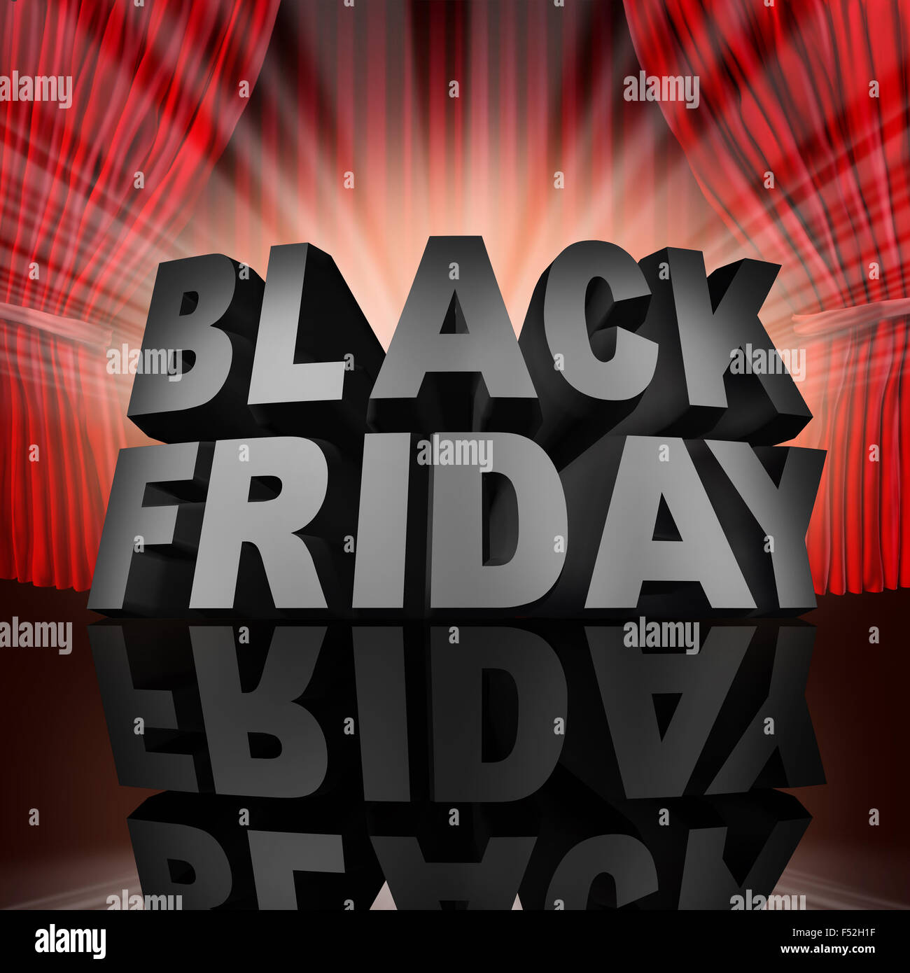 Black Friday Event Sale Banner Sign As Text On Stage With Red Stock Photo Alamy