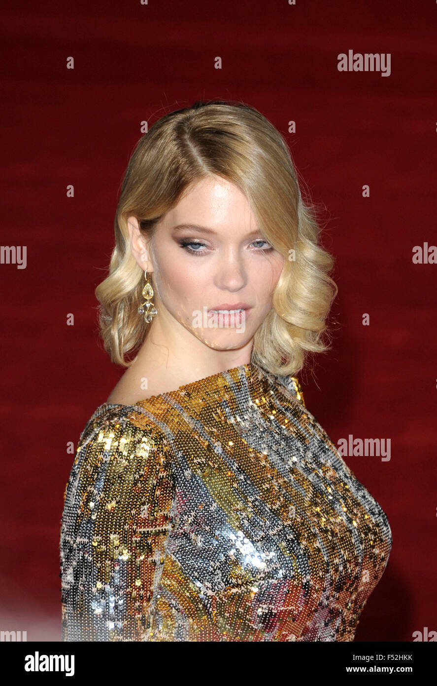 London, UK. 26th October, 2015. Lea Seydoux attending the Royal Film Performance at the World Premiere of SPECTRE - Stock Image