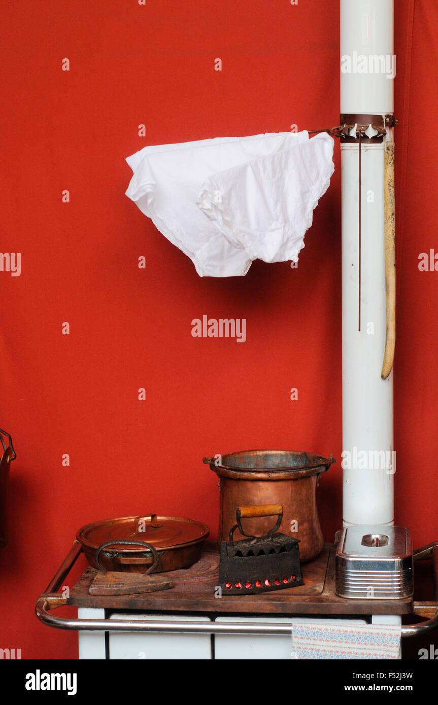 Old Stove Heater Stock Photo