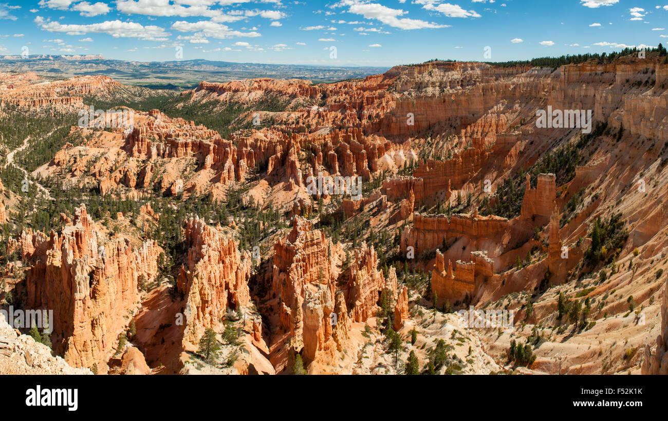 Upper Inspiration Point Panorama, Bryce Canyon, Utah, USA - Stock Image