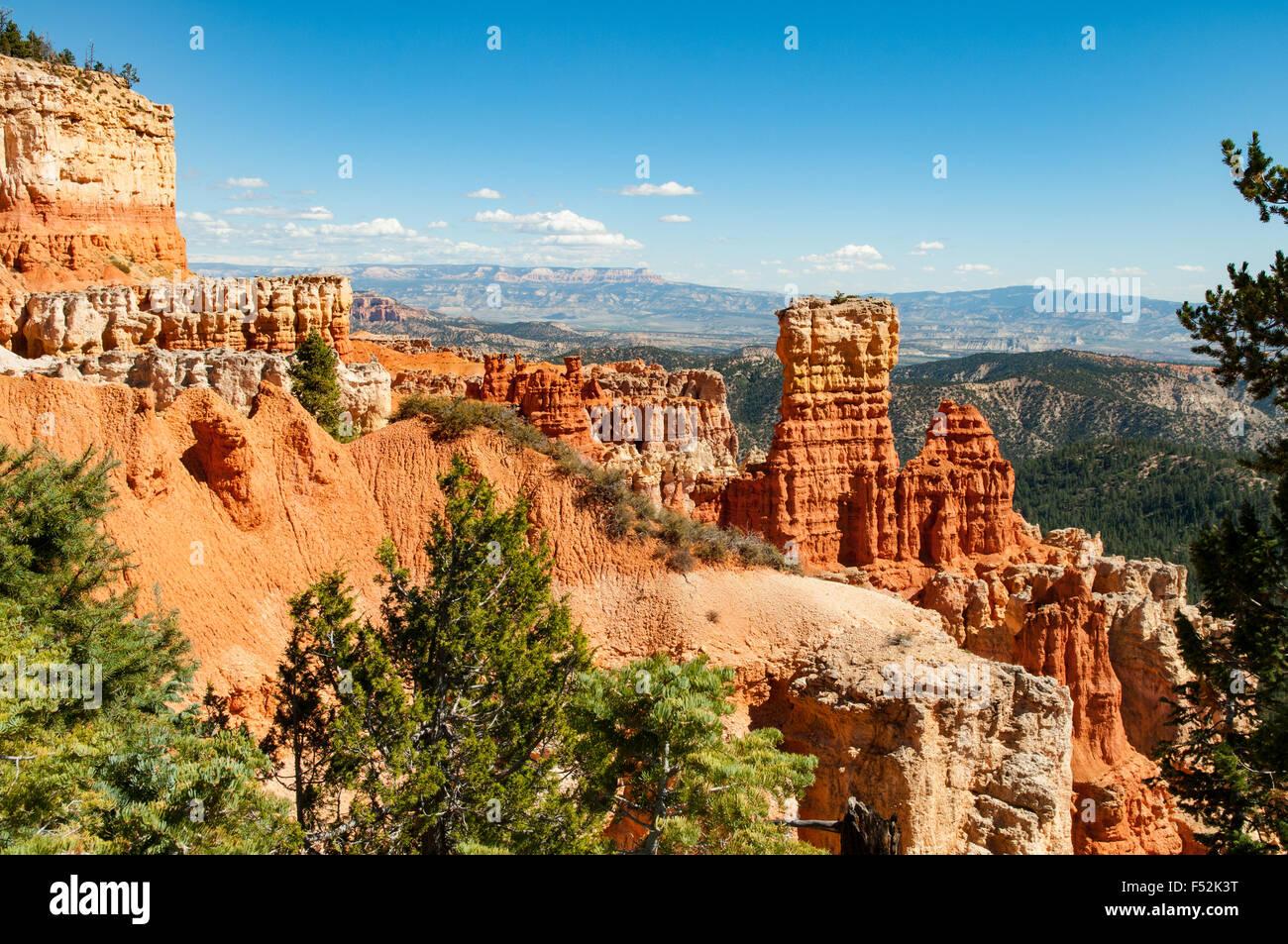 View at Agua Canyon, Bryce Canyon, Utah, USA - Stock Image