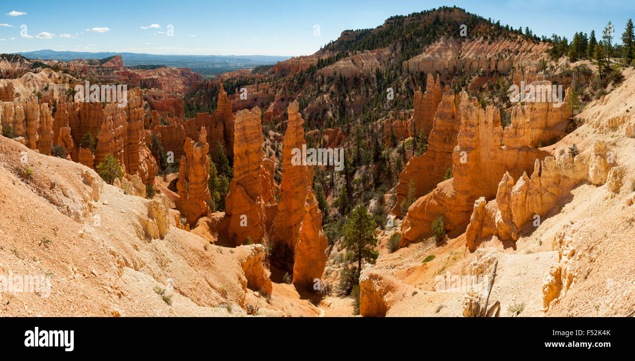 Fairyland Point Panorama, Bryce Canyon, Utah, USA - Stock Image