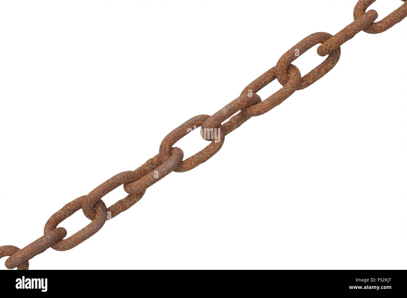 Close up of a Dusty Chain - Stock Image
