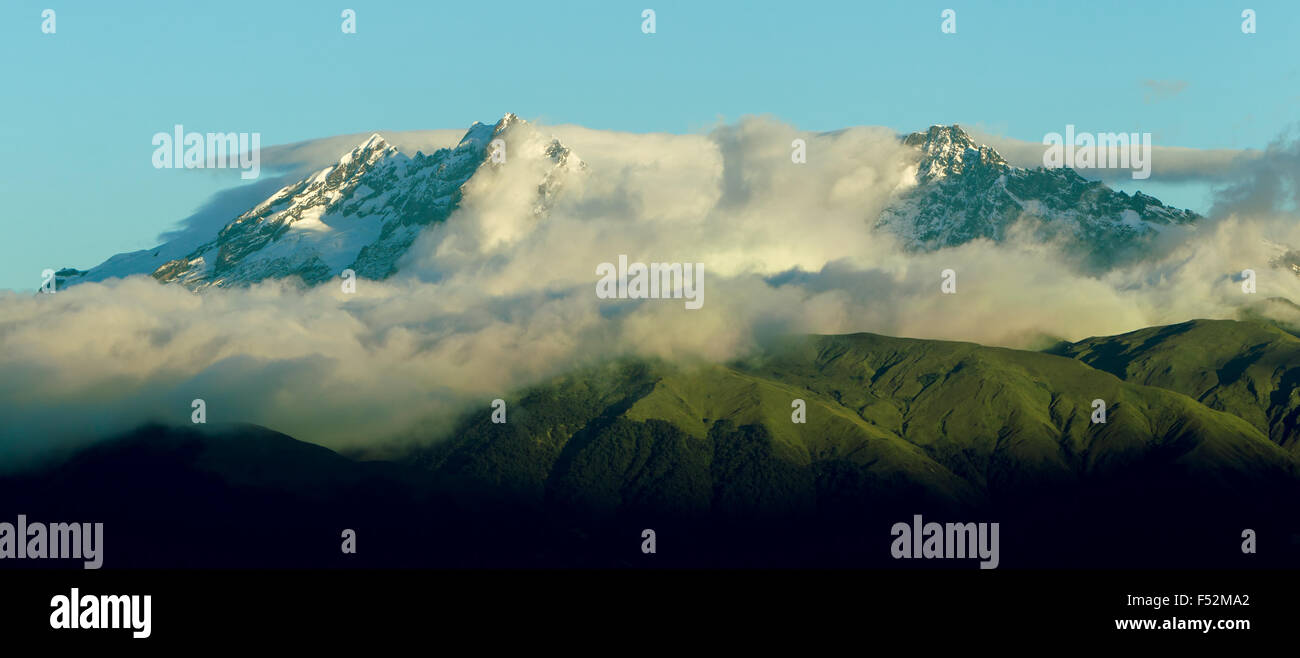Los Alters Volcano In Ecuador Shot From Air - Stock Image