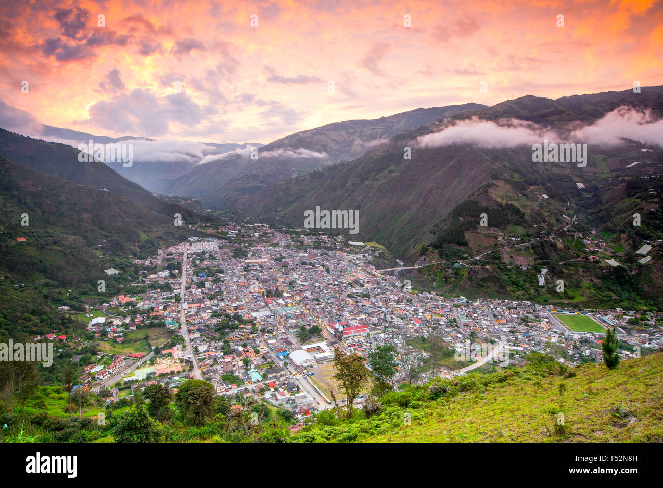 Banos Canton Is A Canton Of Ecuador Located In The Tungurahua Province It Is Also A Place With Many Touristic Attractions - Stock Image