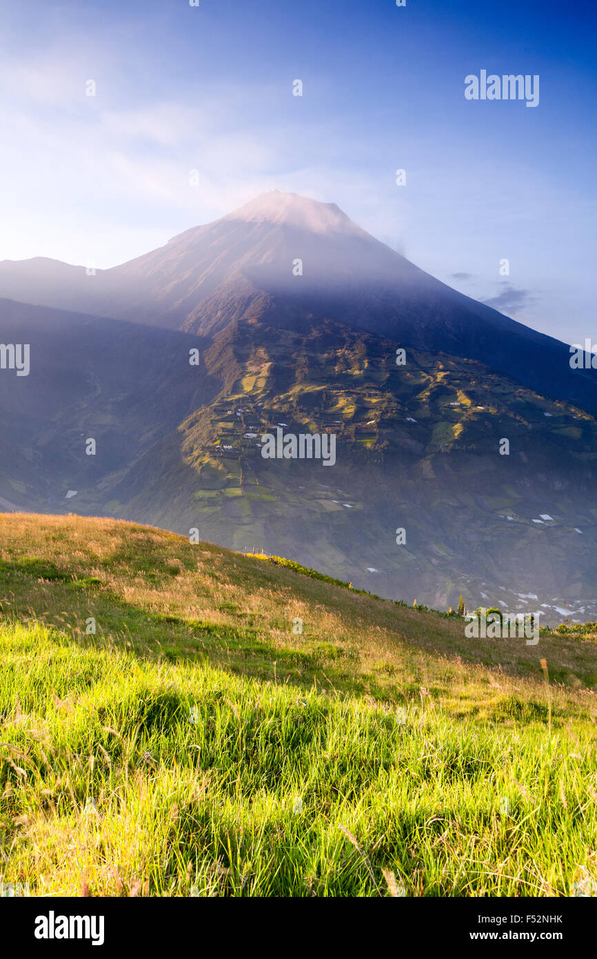 Tungurahua Is An Active Strato Volcano Located In The Cordillera Center Of Ecuador The Volcano Gives Its Name To - Stock Image