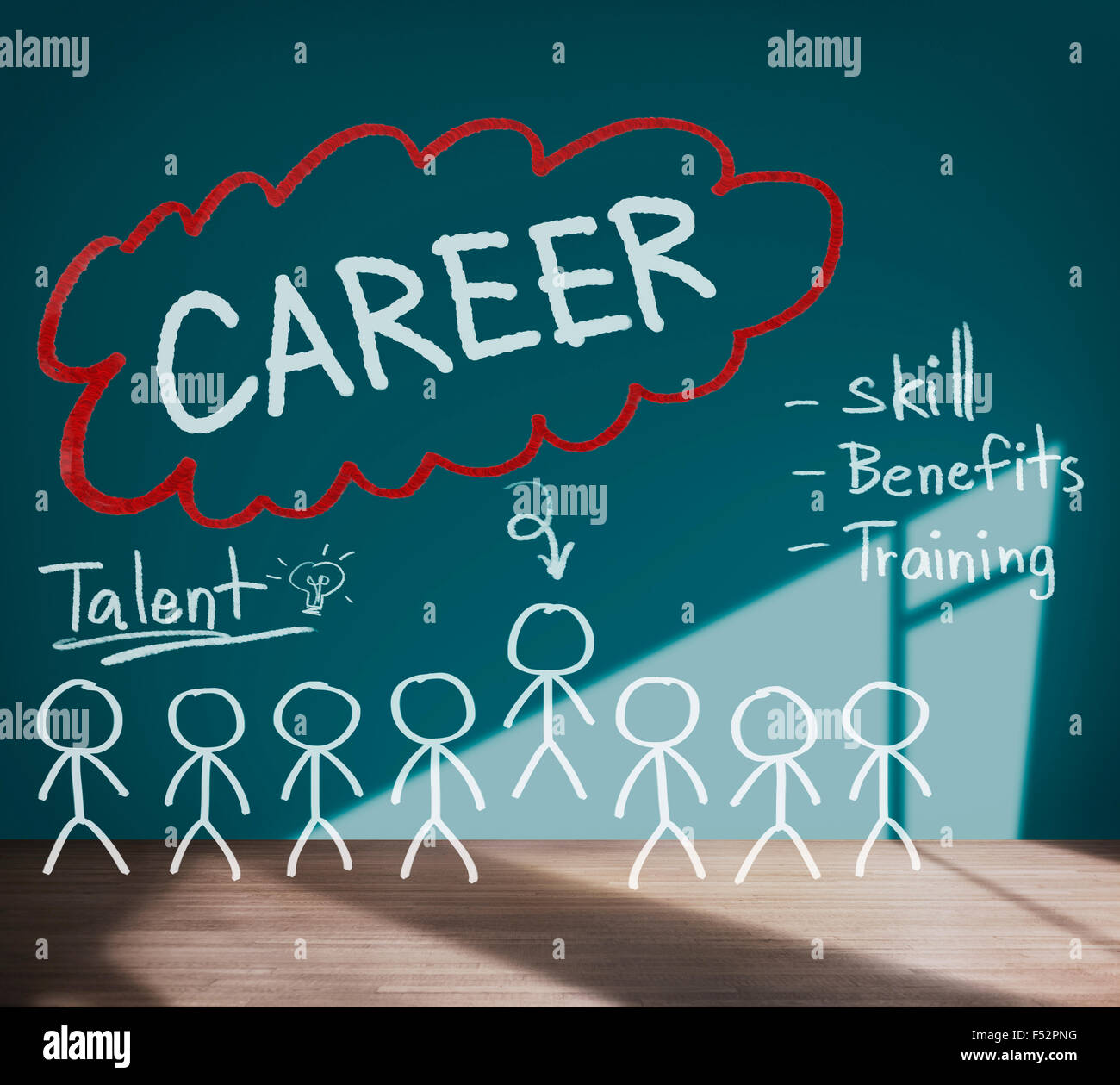 Careers Employment Job Recruitment Occupation Concept Stock Photo