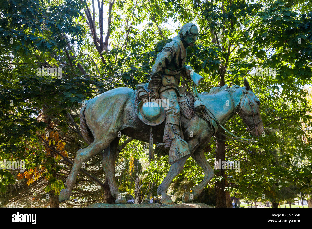 Statue of Kit Carson in Carson City, Nevada - Stock Image