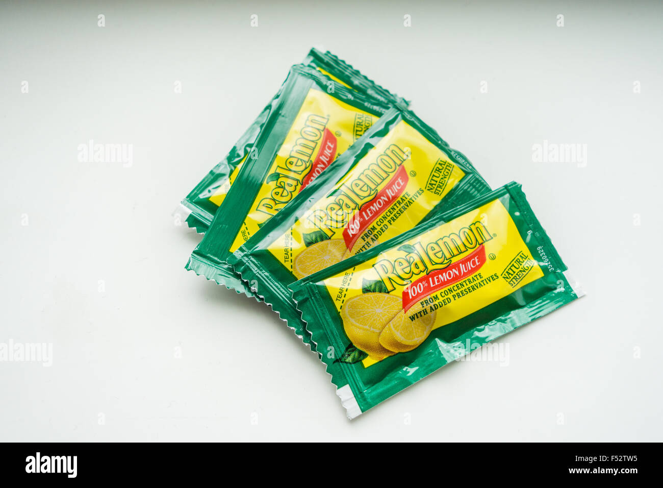 lemon concentrate pack - Stock Image