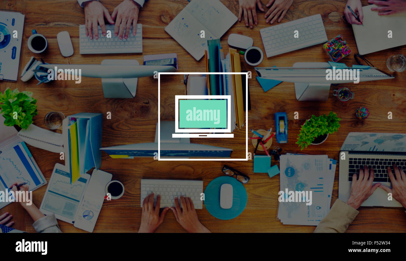 Laptop Computer Technology Digital Device Concept - Stock Image