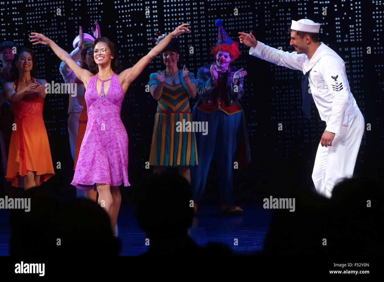 Misty Copeland makes her Broadway debut in On The Town at the Lyric Theatre - Curtain Call.  Featuring: Misty Copeland, - Stock Image