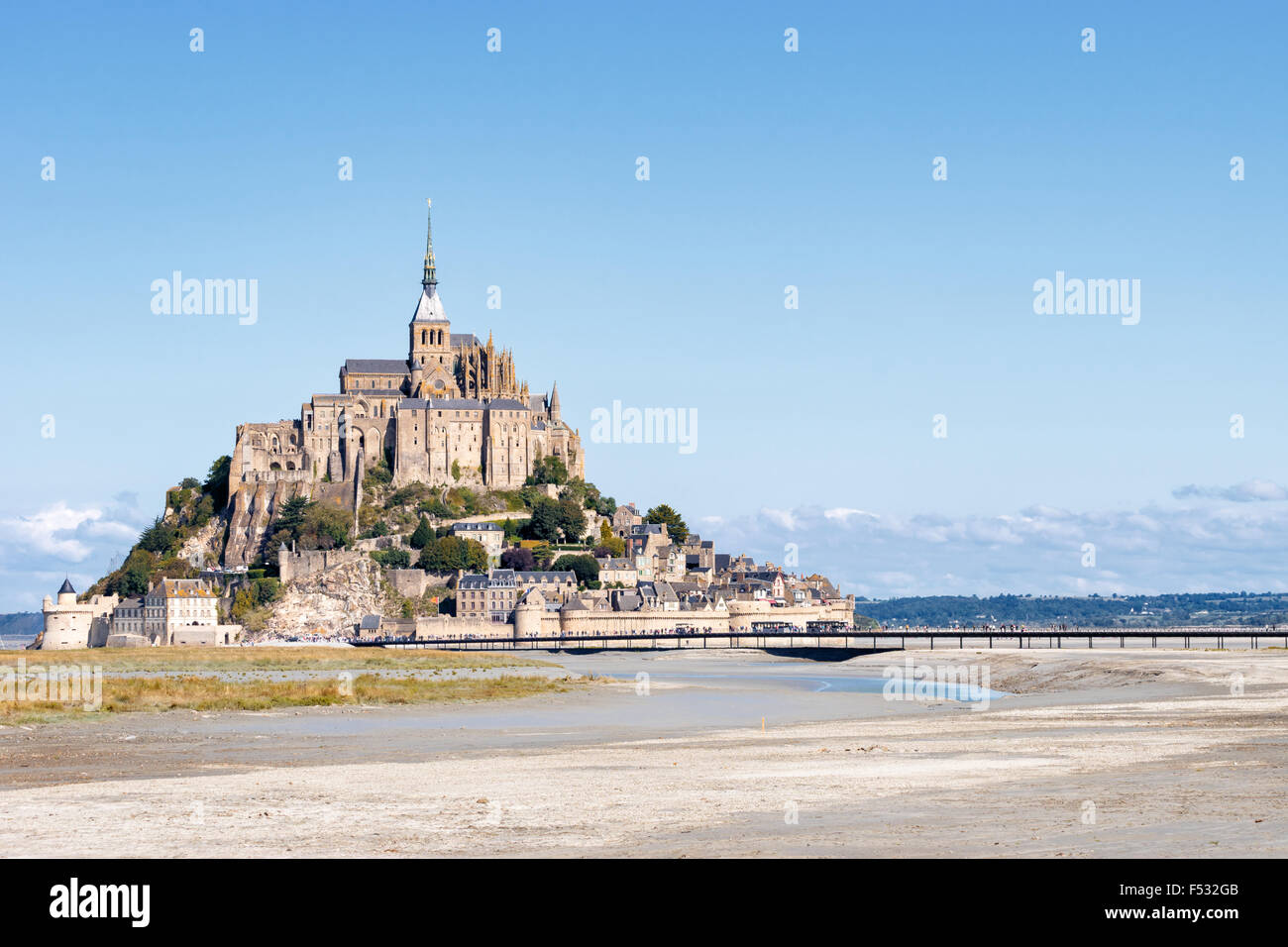 Le Mont Saint Michel, France, Normandy 2015 - Stock Image