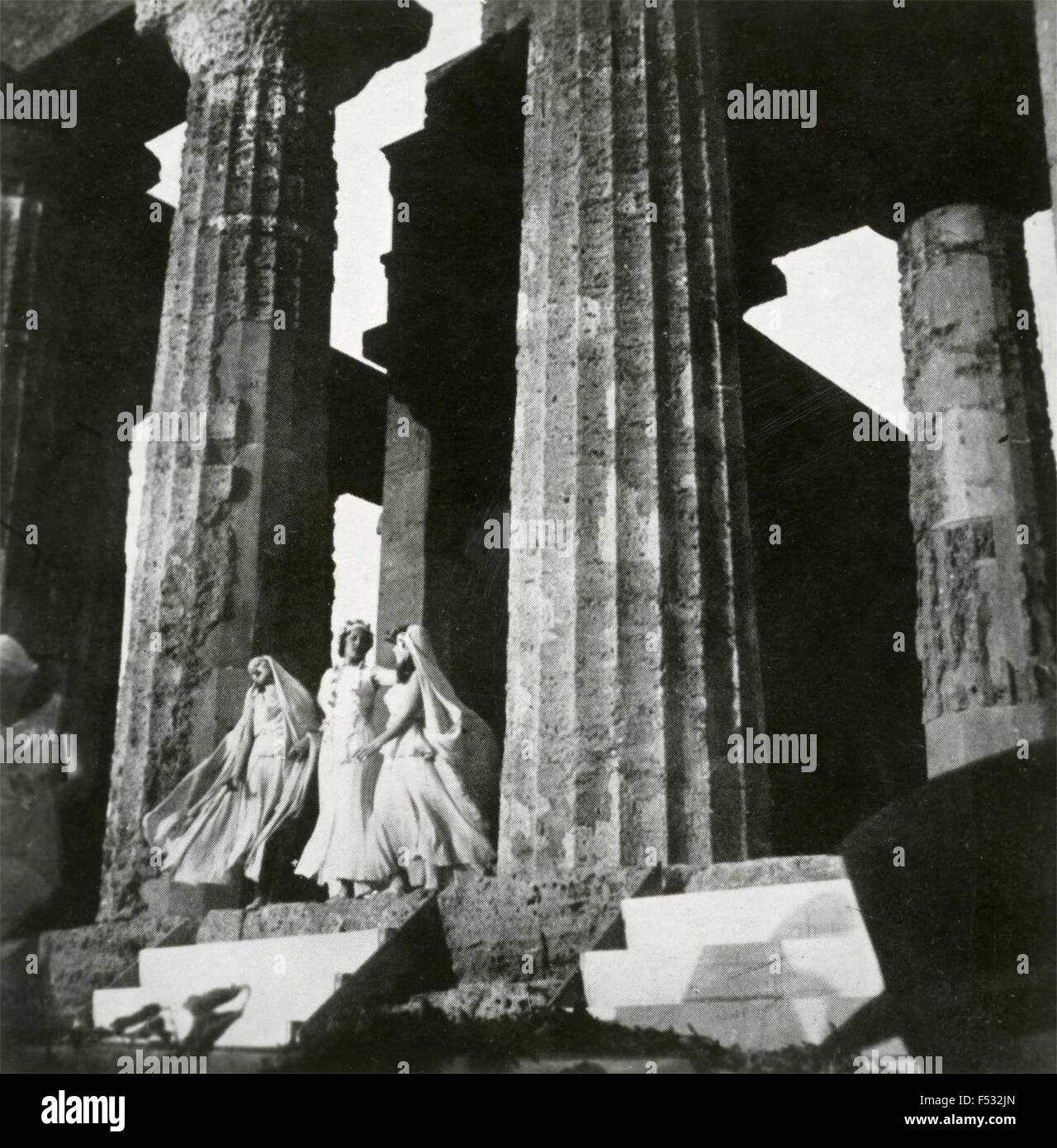 Theatrical representation of the Sacrifice of Iphigenia - Stock Image