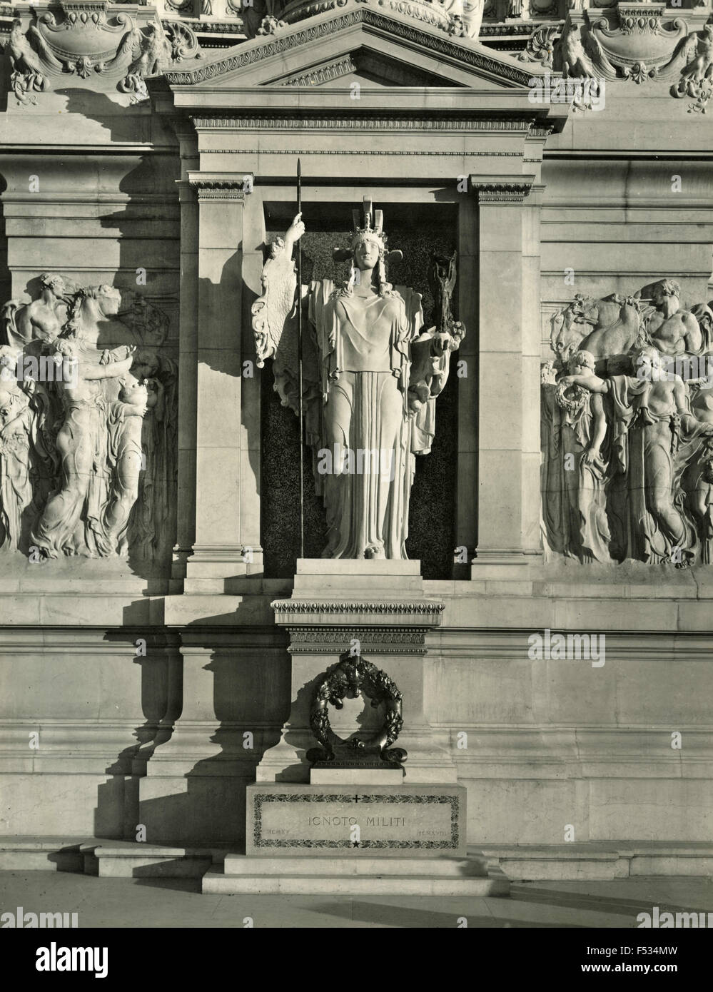 The Goddess Altar of the Fatherland Rome , Italy - Stock Image
