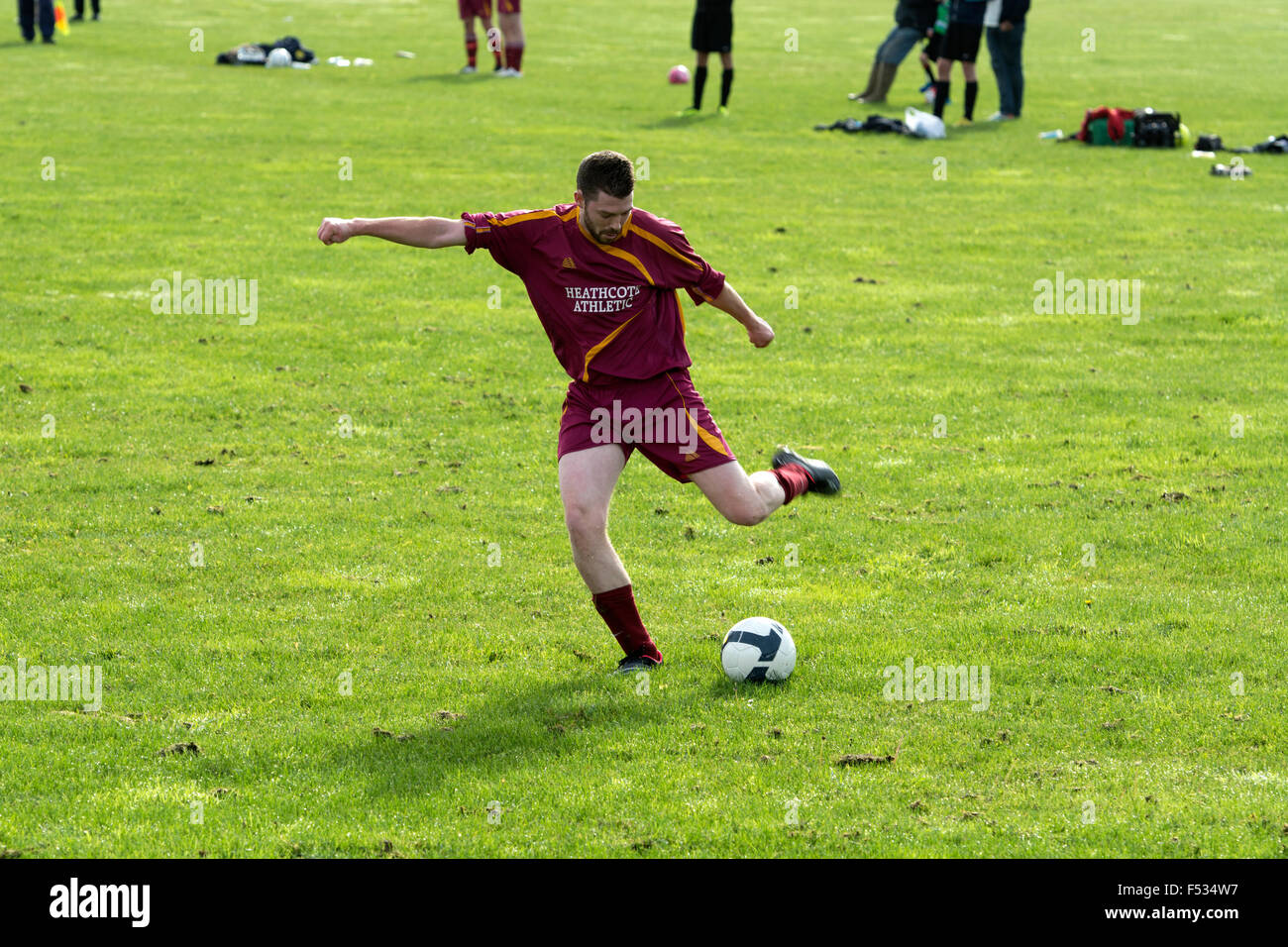 Sunday League football - Stock Image