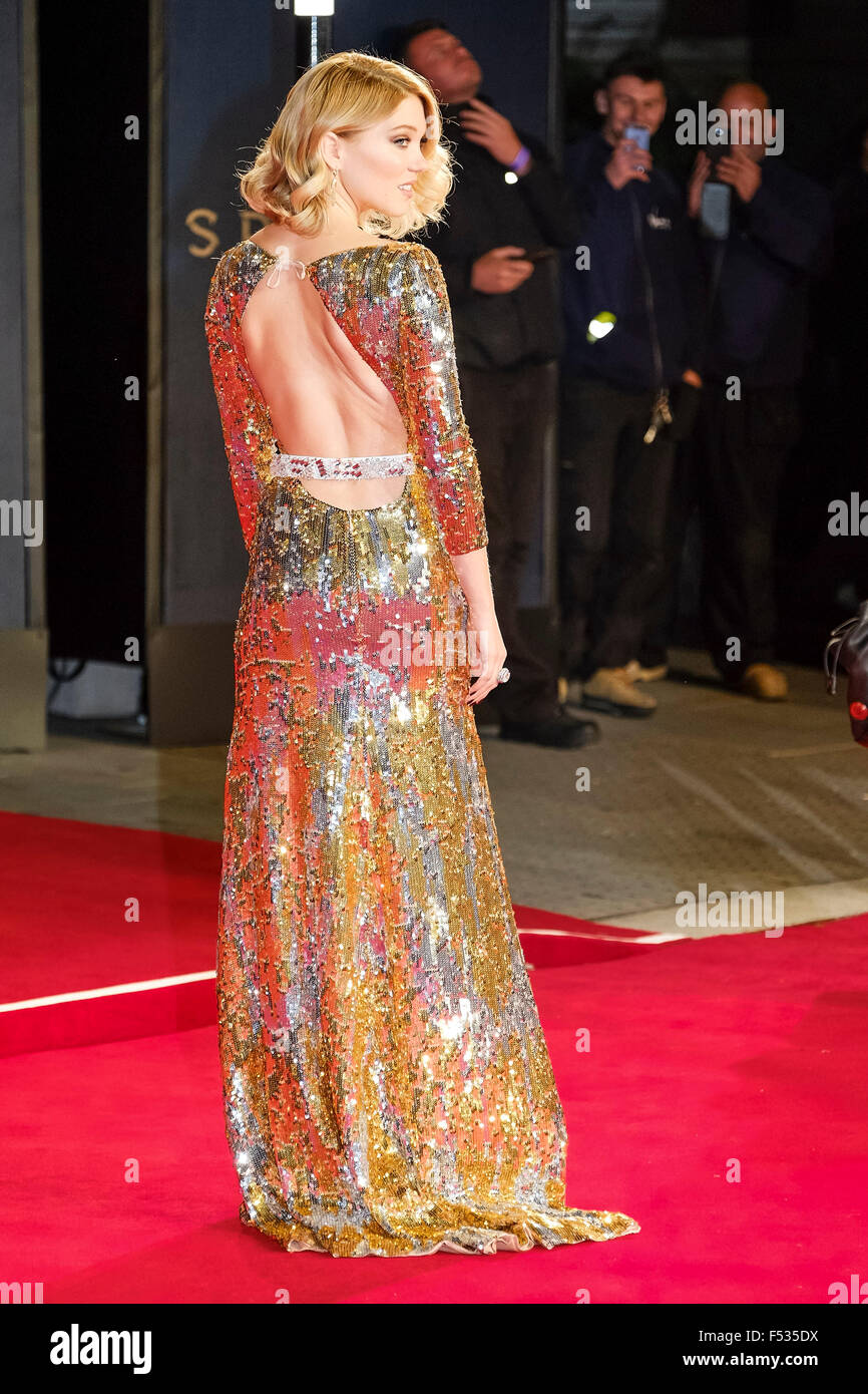 London, UK. 26th Oct, 2015. Lea Seydoux arrives on the red carpet for the The CBTF Royal Film Performance 2015: - Stock Image