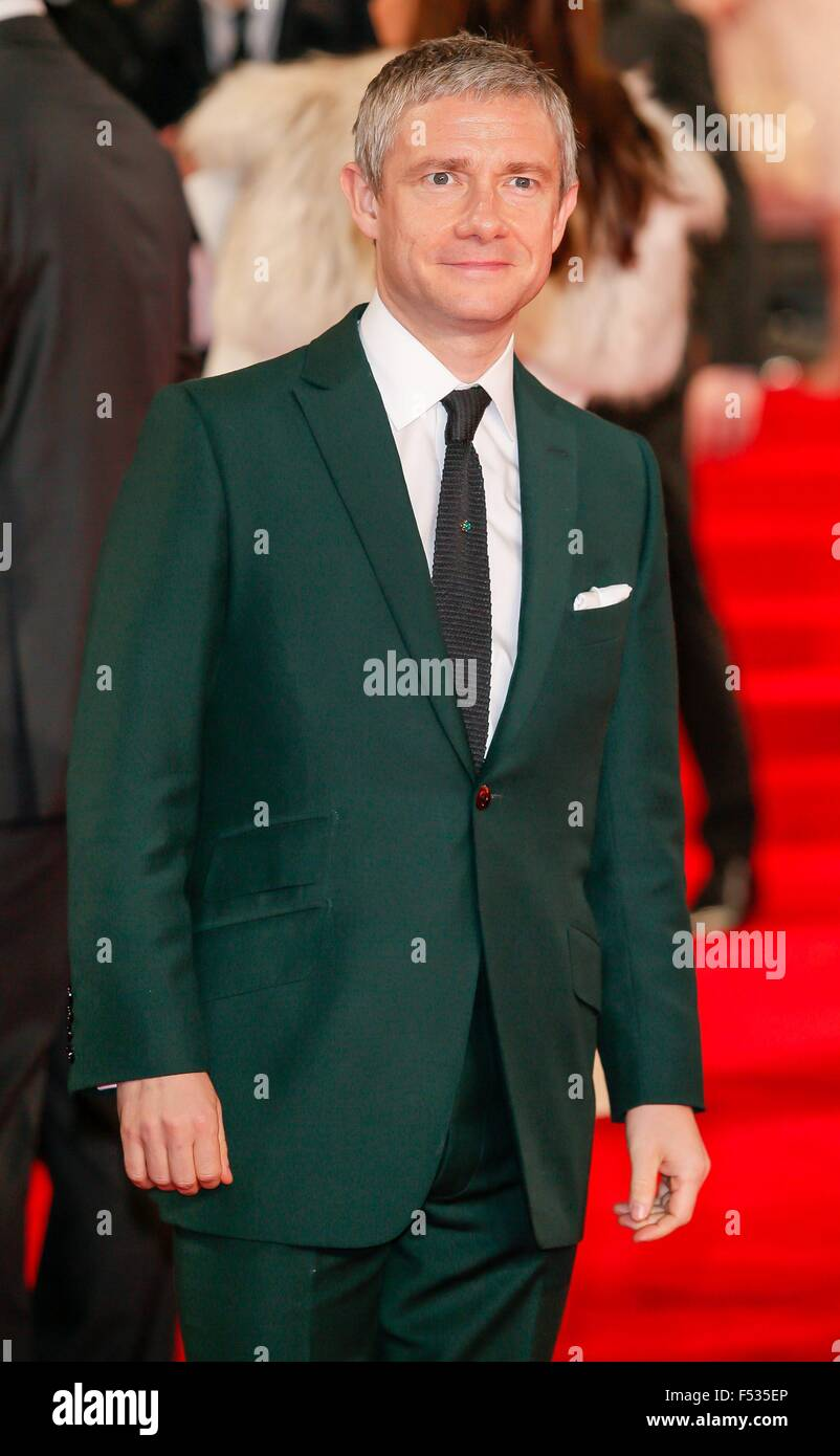 London, Britain. 26th Oct, 2015. British actor Martin Freeman attends the world premiere of the new James Bond film - Stock Image