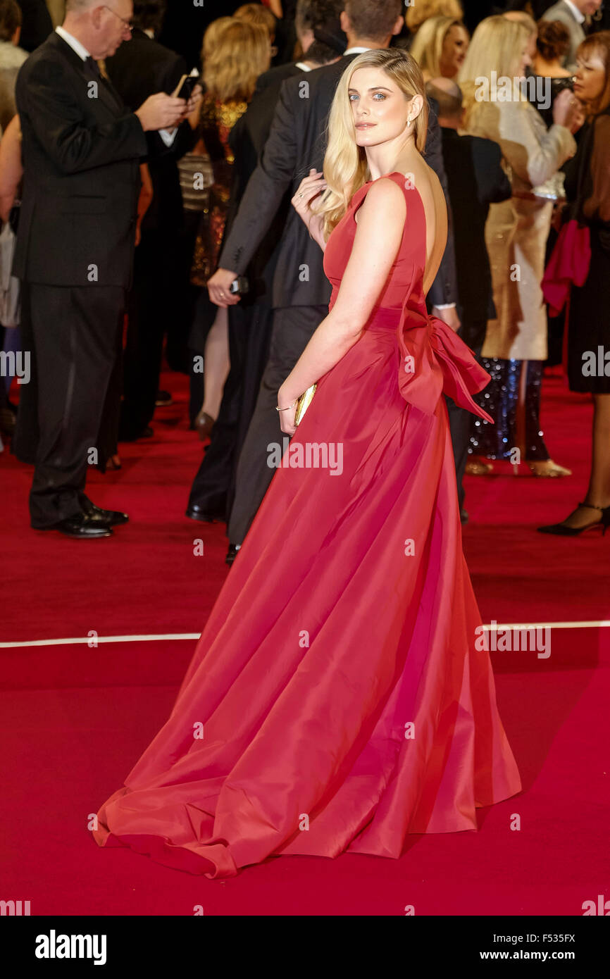 London, UK. 26th Oct, 2015. Ashley James arrives on the red carpet for the The CBTF Royal Film Performance 2015: - Stock Image