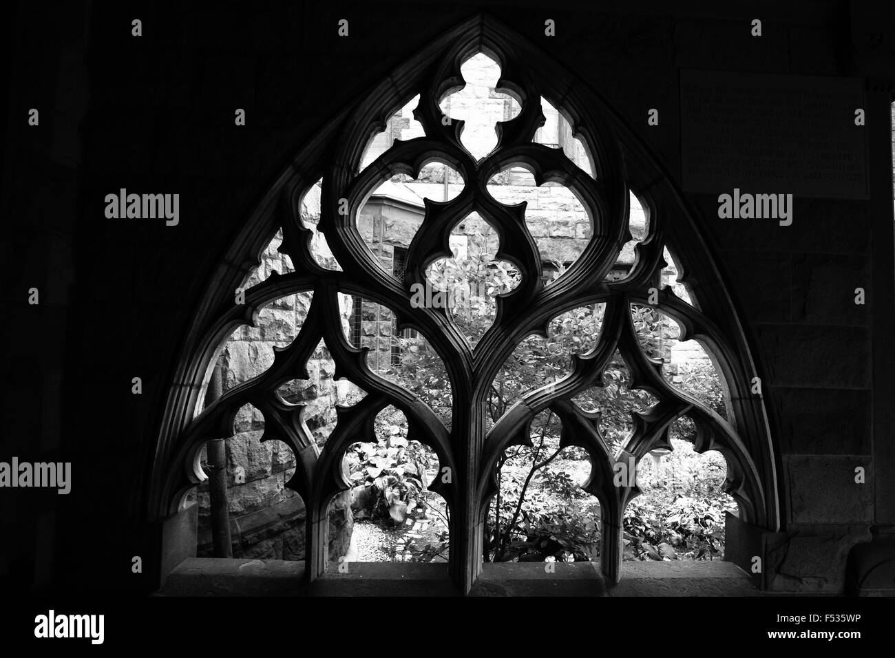 bostin trinity church frame - Stock Image