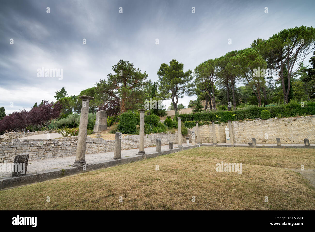 Roman Ruins, Vaison-la-Romaine, Quartier de Puymin, Provence, France, EU, Europe. Stock Photo