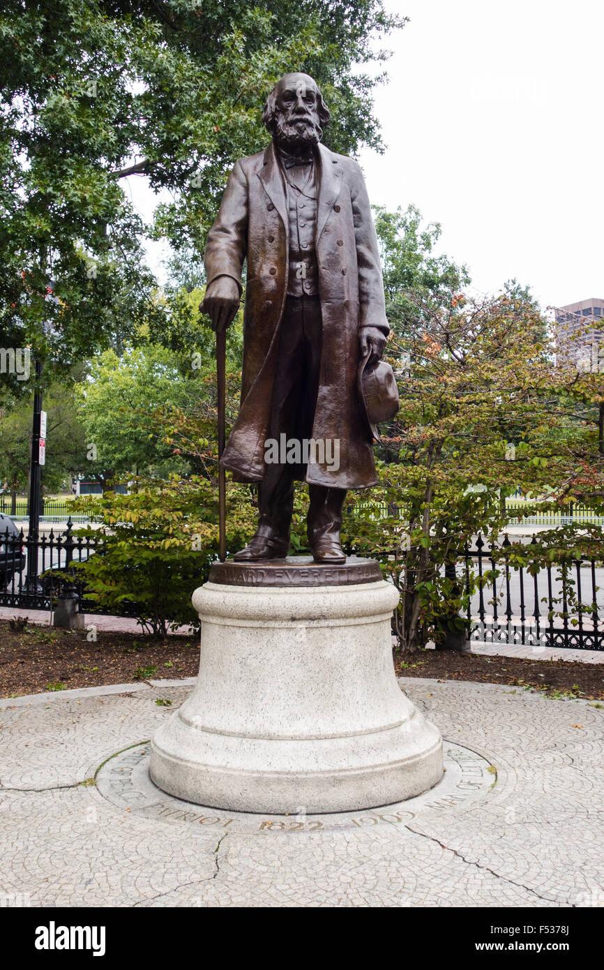 edward everett hale statue boston garden - Stock Image