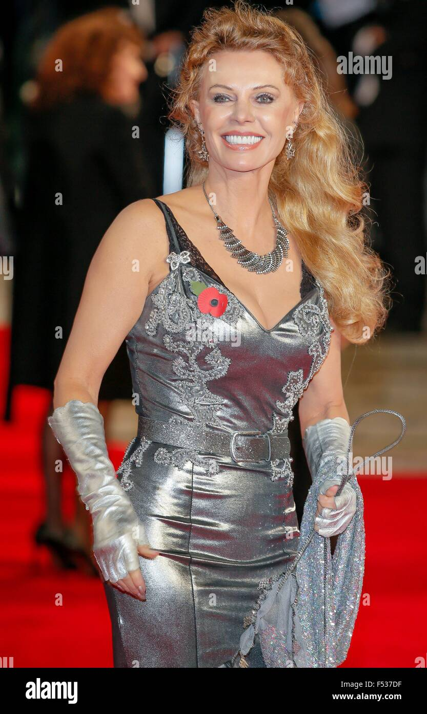 London, Britain. 26th Oct, 2015. Swedish actress Britt Ekland attends the world premiere of the new James Bond film - Stock Image