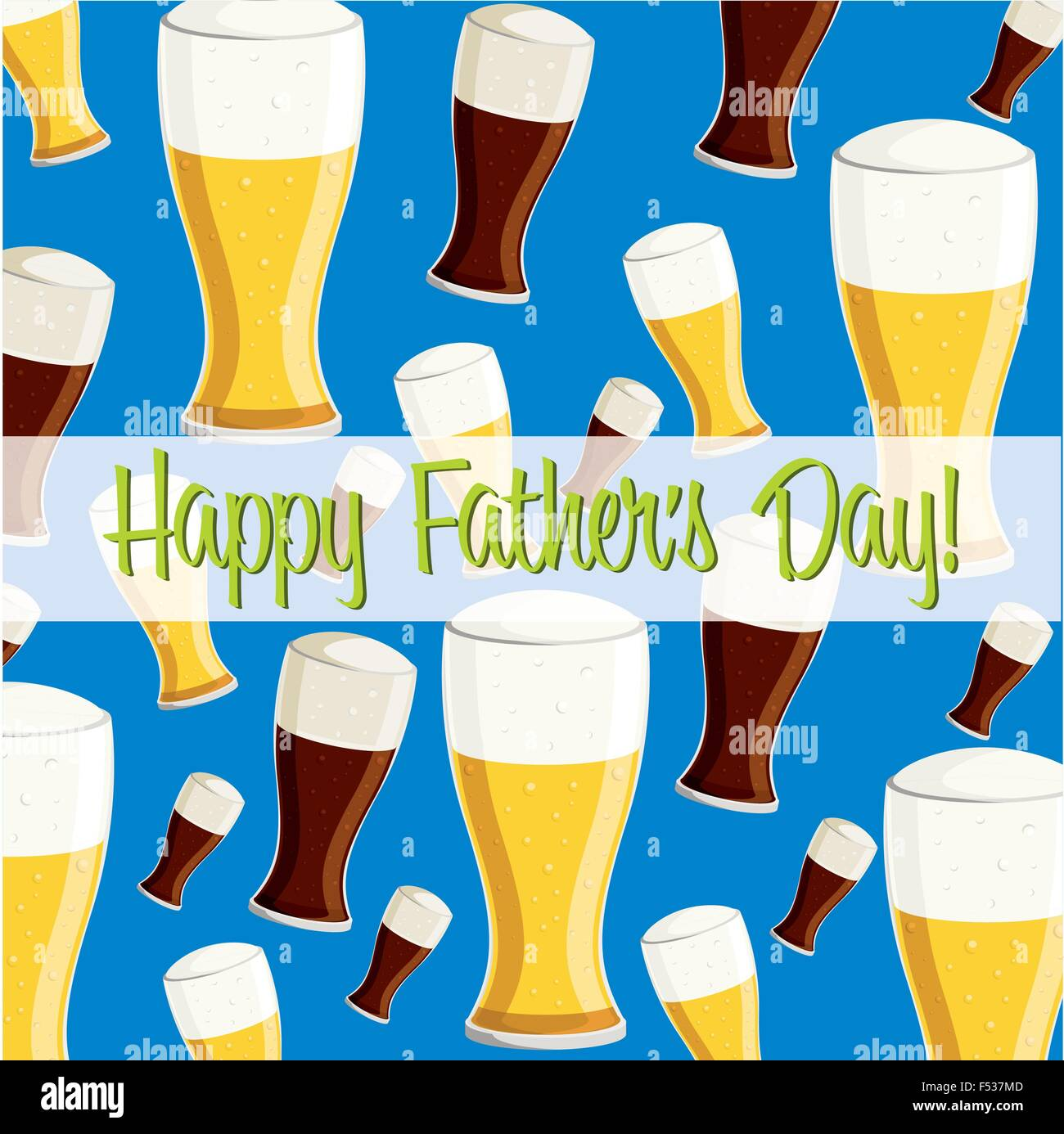 Happy Fathers Day Beer Card In Vector Format Stock Vector Art