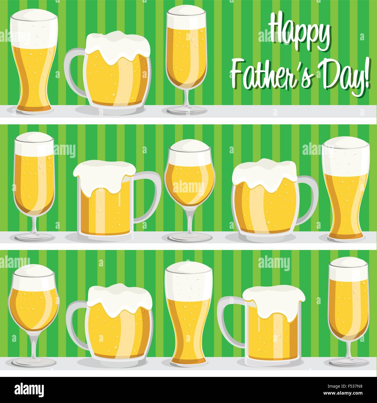 Happy Fathers Day Beer Card Stock Photos Happy Fathers Day Beer