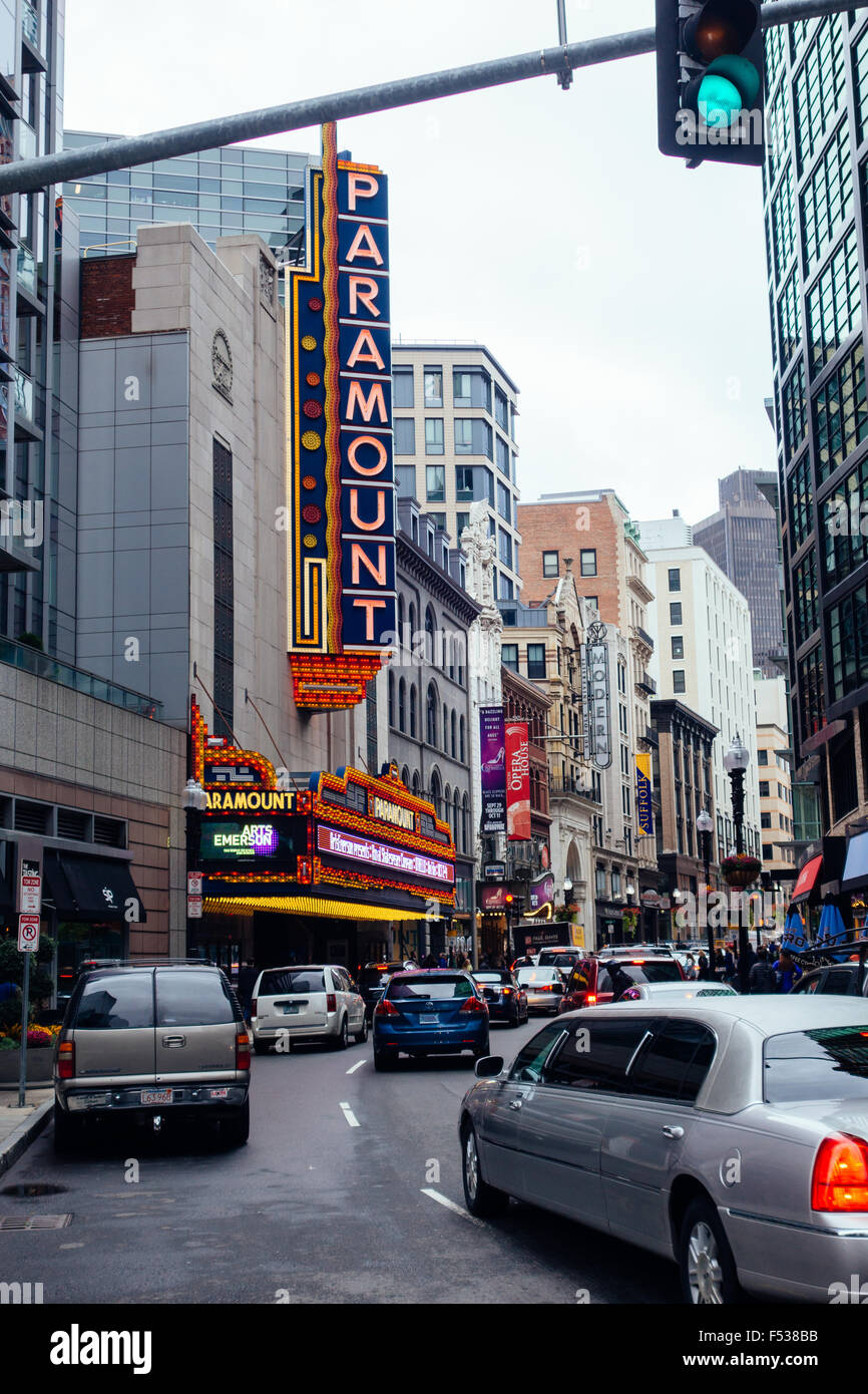 boston paramount theater 'paramount theatre' - Stock Image