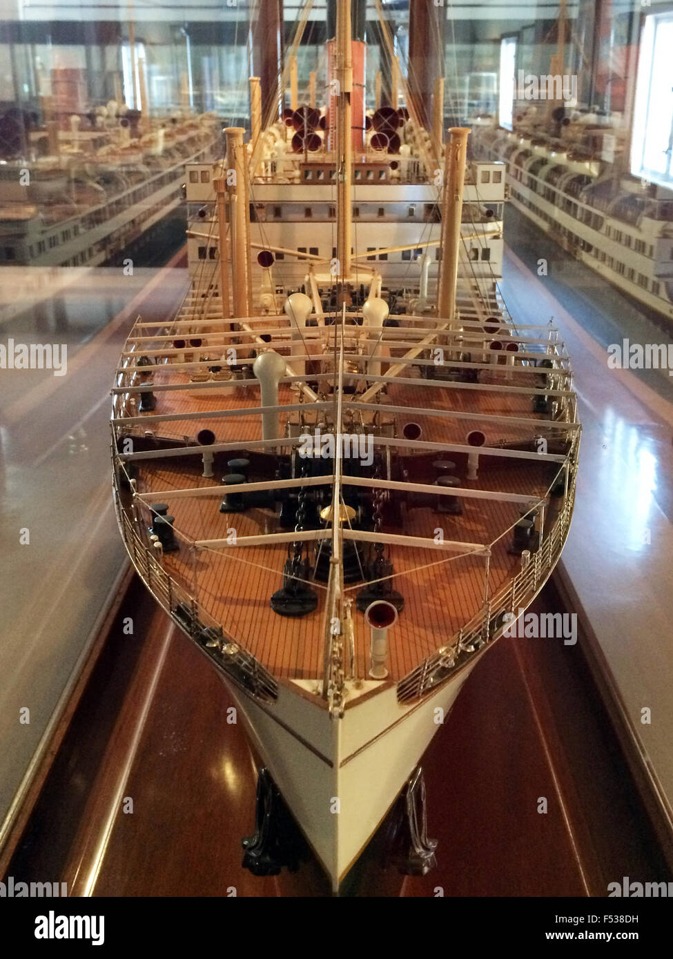AUCKLAND  - OCT 25 2015:Old ship model in Auckland Maritime Museum.It houses exhibitions spanning New Zealands maritime Stock Photo