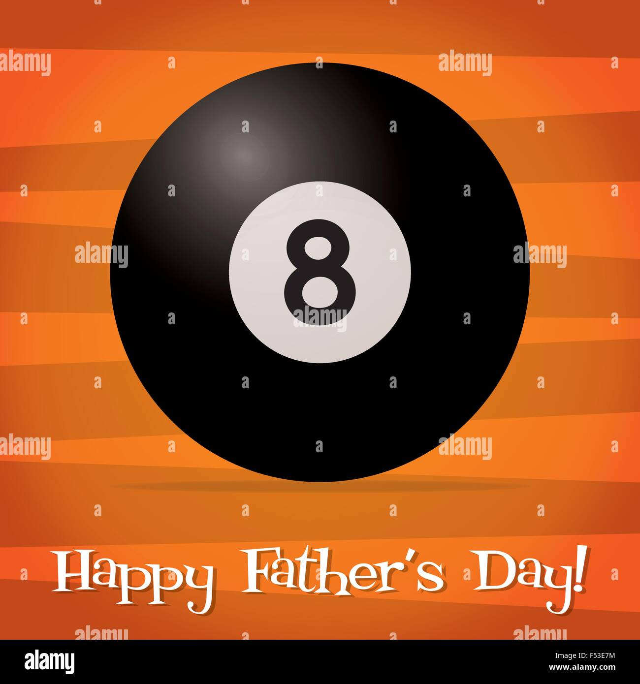 Snooker Father's Day card in vector format. - Stock Image