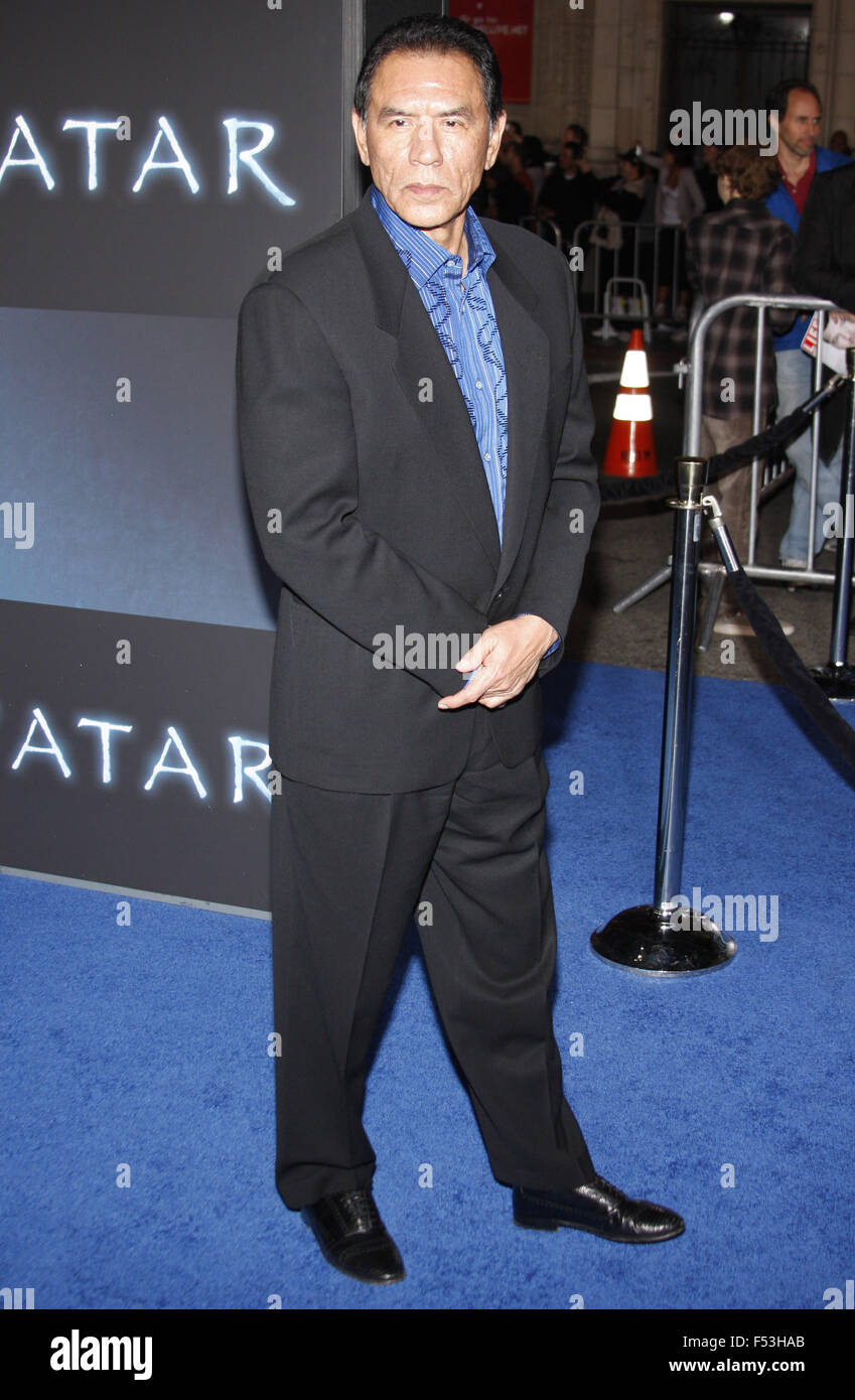 Wes Studi at the Los Angeles Premiere of 'Avatar' held at the Grauman's Chinese Theater in Hollywood, - Stock Image