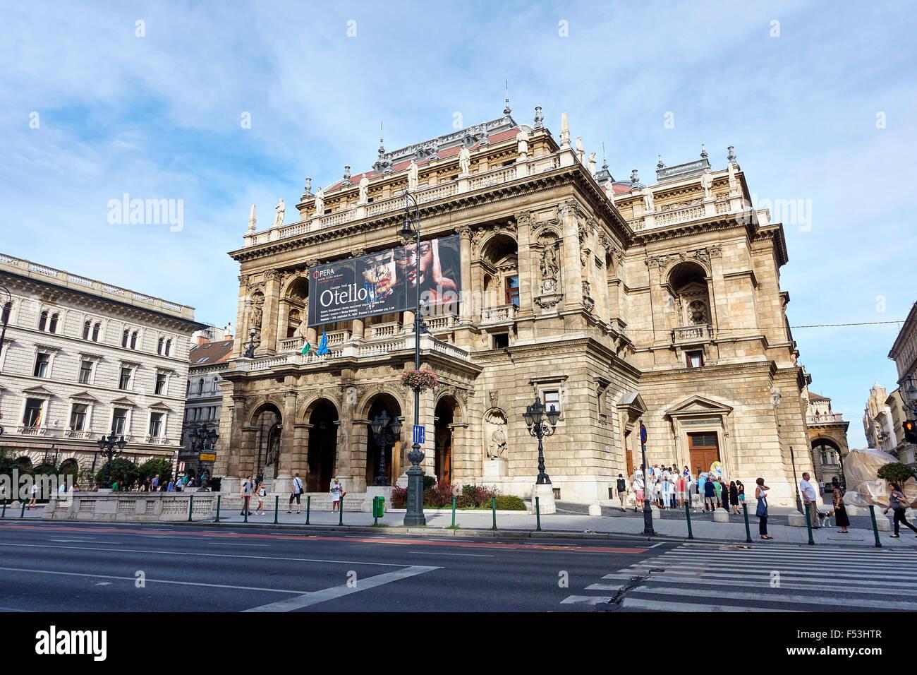 Hungarian State Opera House, Budapest, Hungary - Stock Image