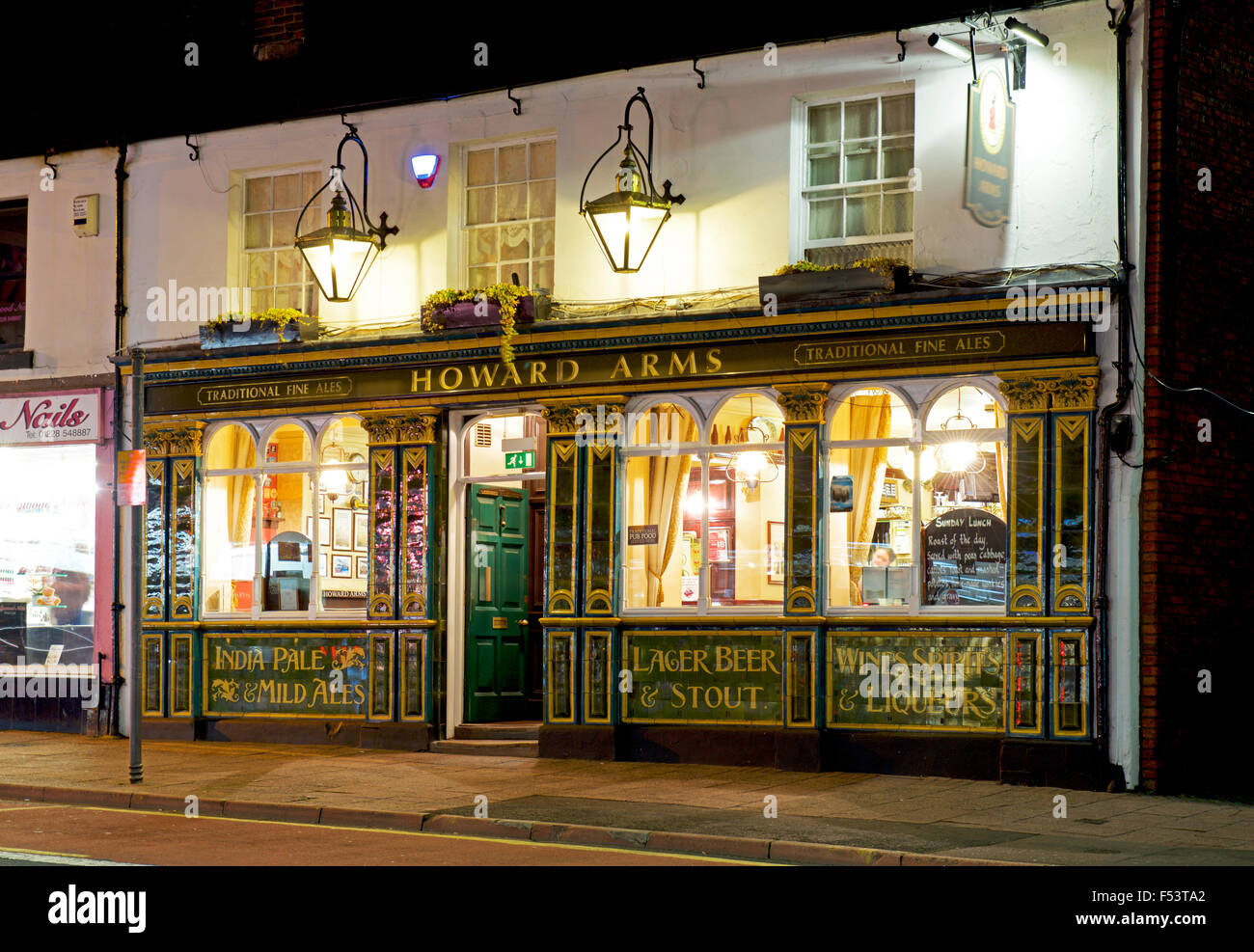 The Howard Arms on Lowther Street, in Carlisle, Cumbria, England UK - Stock Image