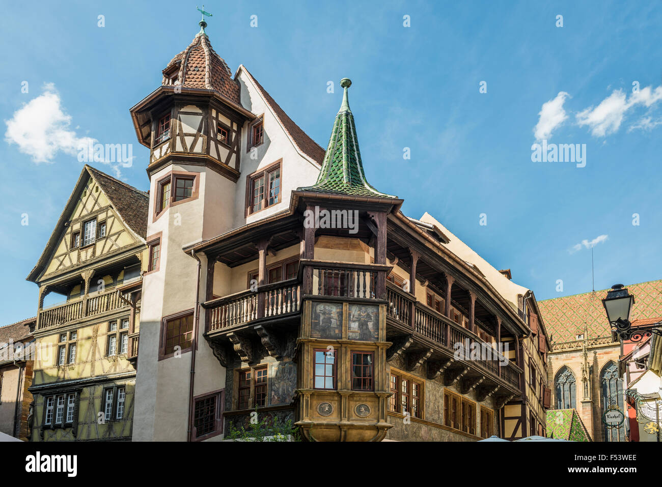maison pfister colmar alsace france stock photo 89210982 alamy. Black Bedroom Furniture Sets. Home Design Ideas