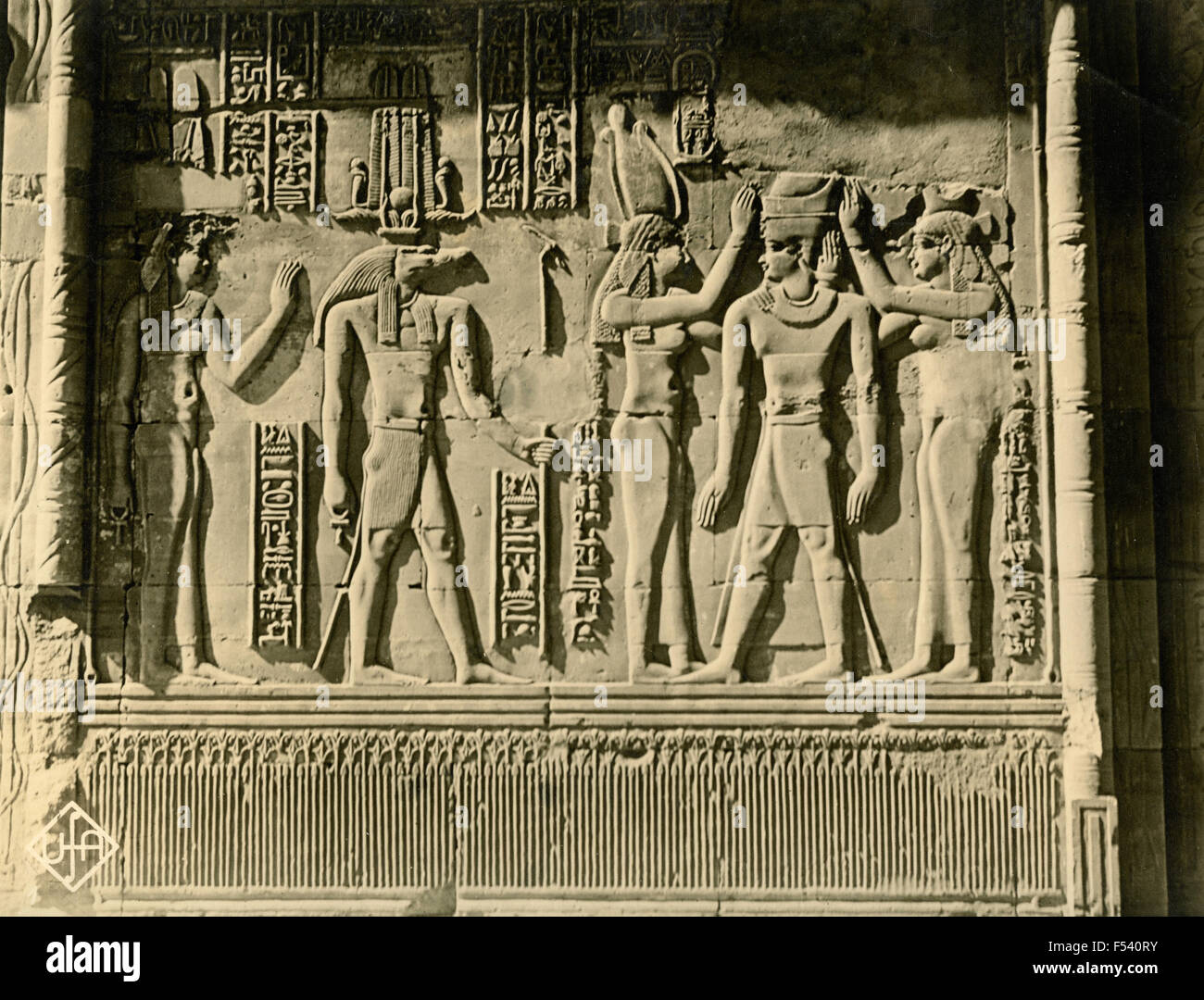 Bas-reliefs at the Temple of Kom Ombo, Egypt - Stock Image