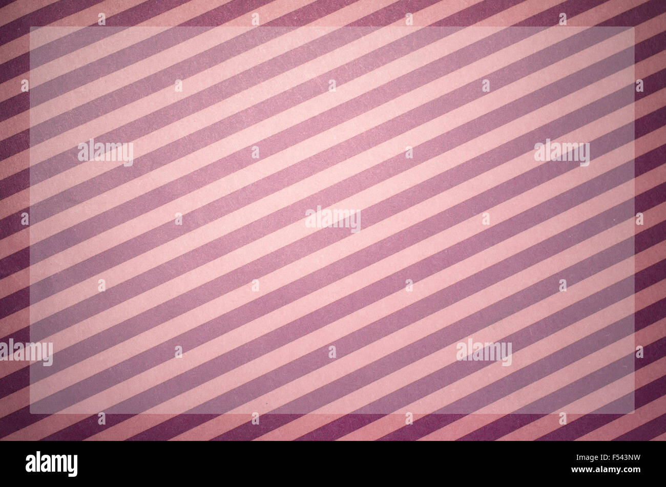 magenta colored stripes paper background with dodged copy space - Stock Image