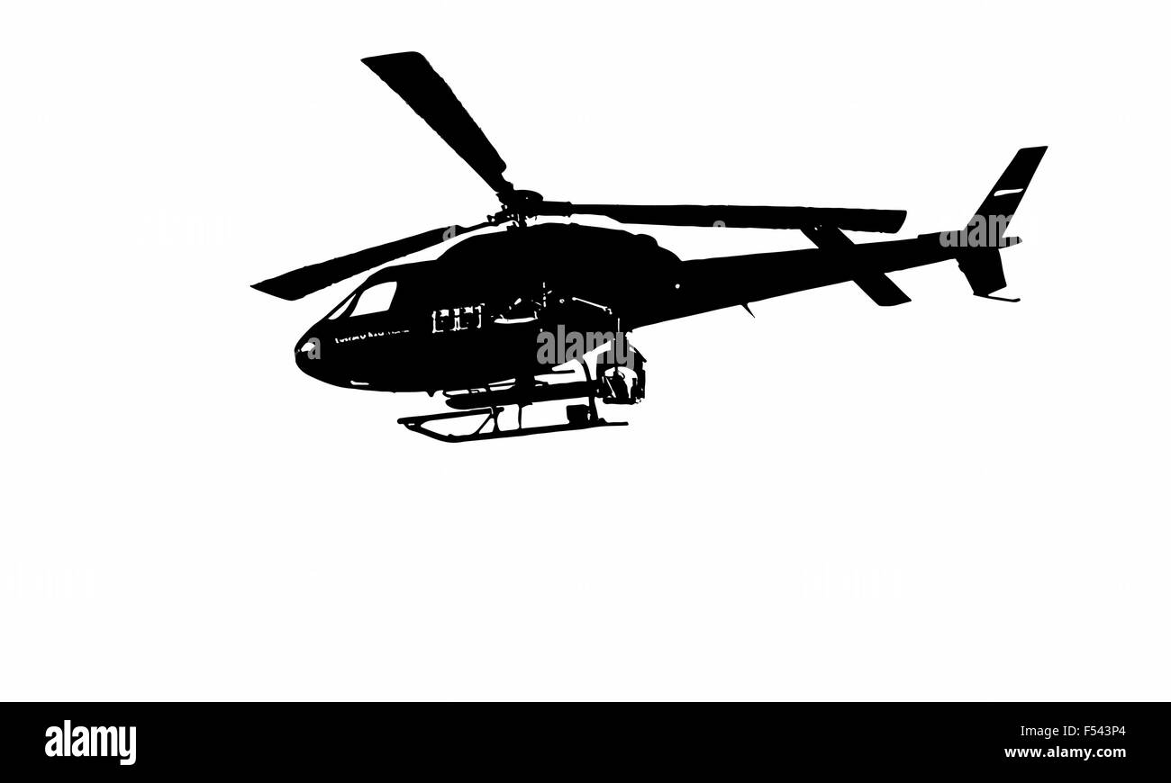 special helicopter - Stock Vector