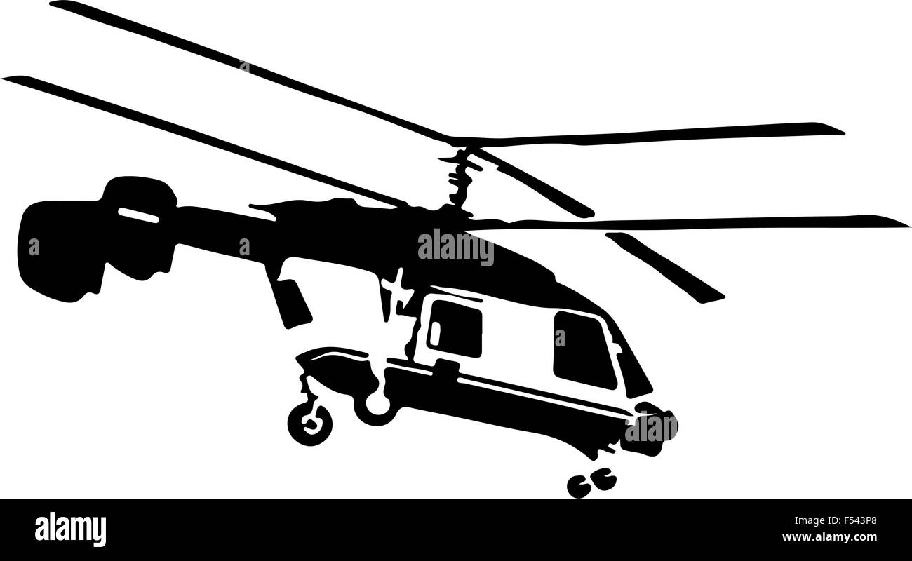 police helicopter - Stock Vector