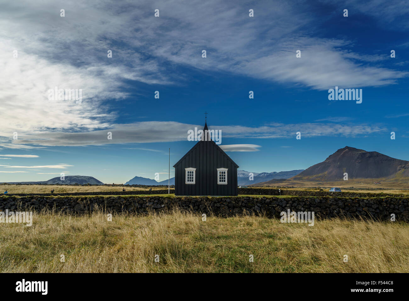 Budir Church, Snaefellsnes Peninsula, Iceland - Stock Image