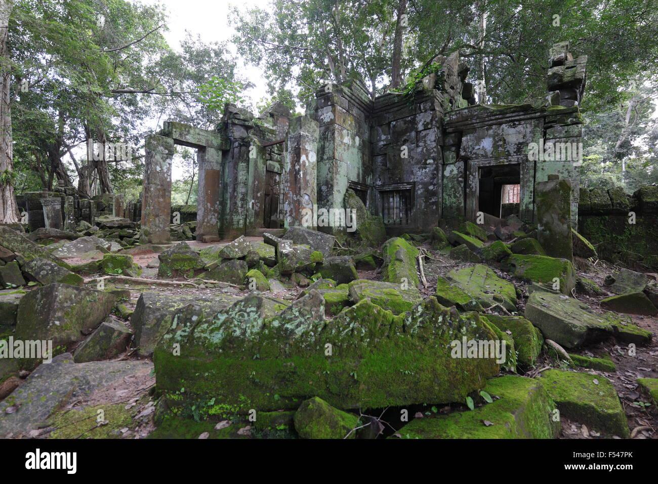 Temple ruin in Koh Ker - Stock Image
