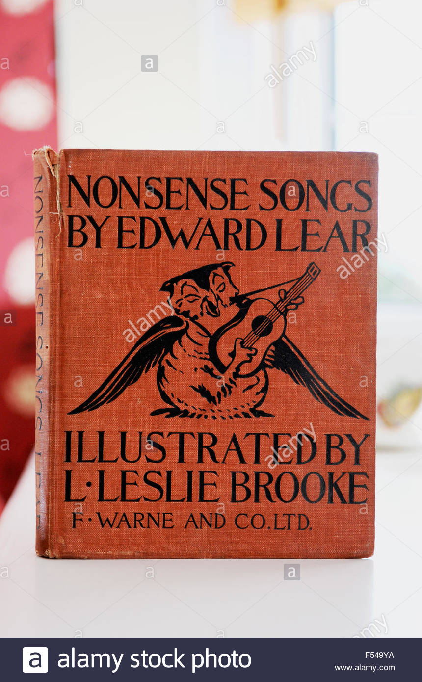 Nonsense Songs by Edward Lear book - Stock Image