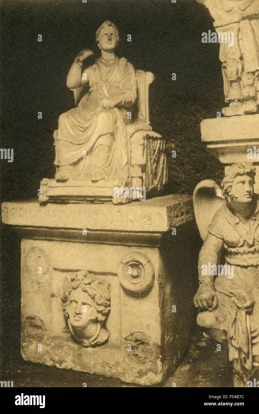 Sepulchre Volumni , urn Veilia Velimnia Aruntia , Perugia, Italy - Stock Image