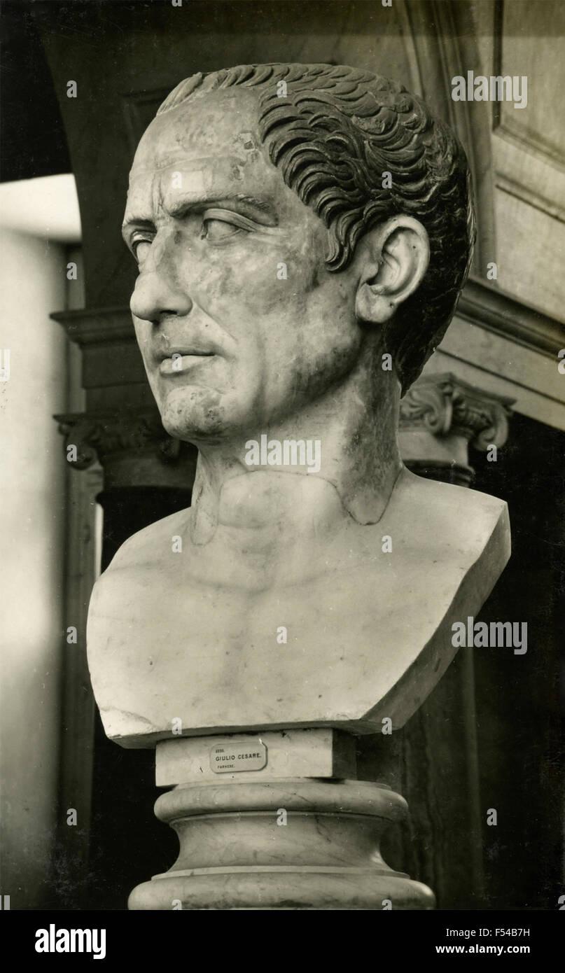 Bust of Julius Caesar , Italy - Stock Image