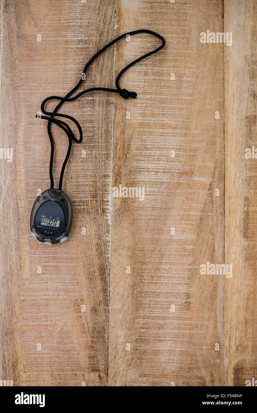 Stopwatch with copy space - Stock Image