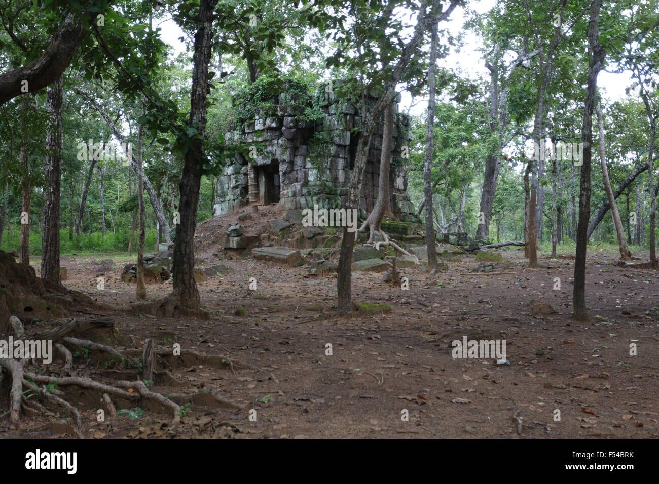 Temple in Koh Ker, Cambodia - Stock Image