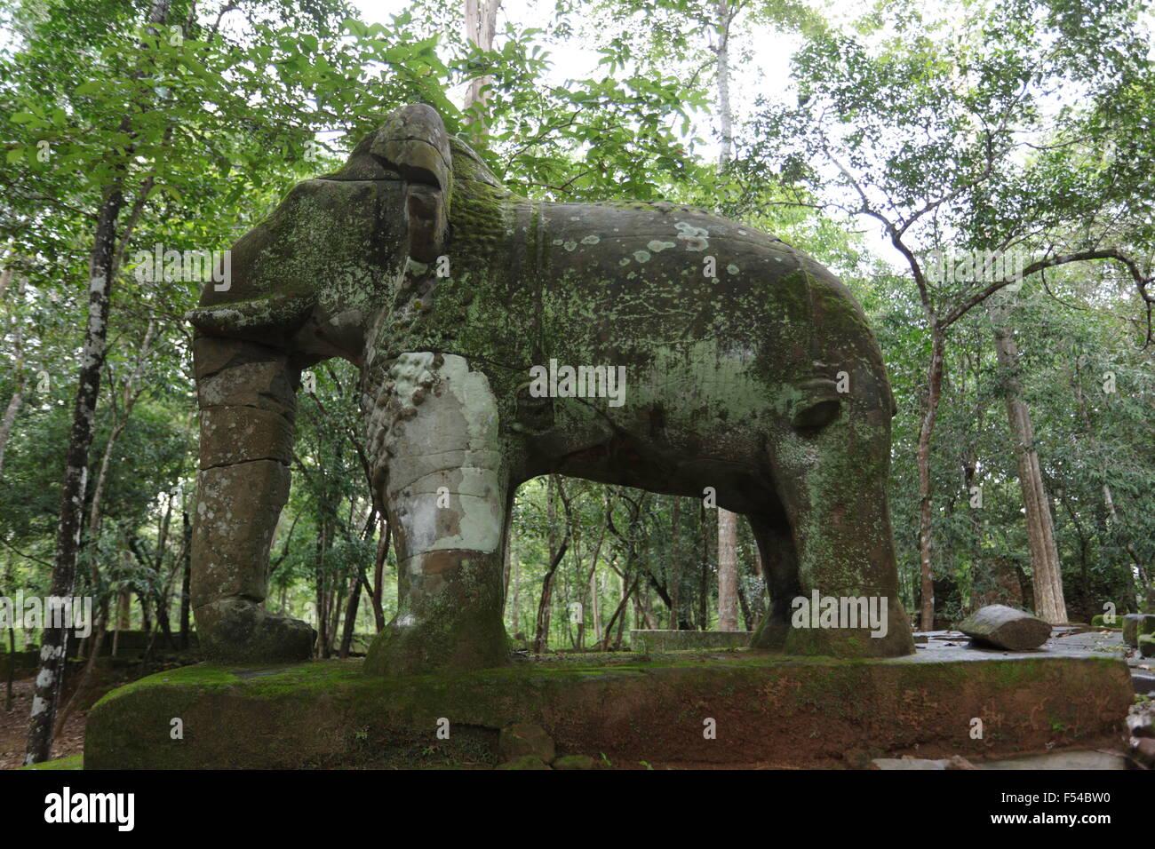 Elephant in Koh Ker temples, Cambodia.Stock Photo
