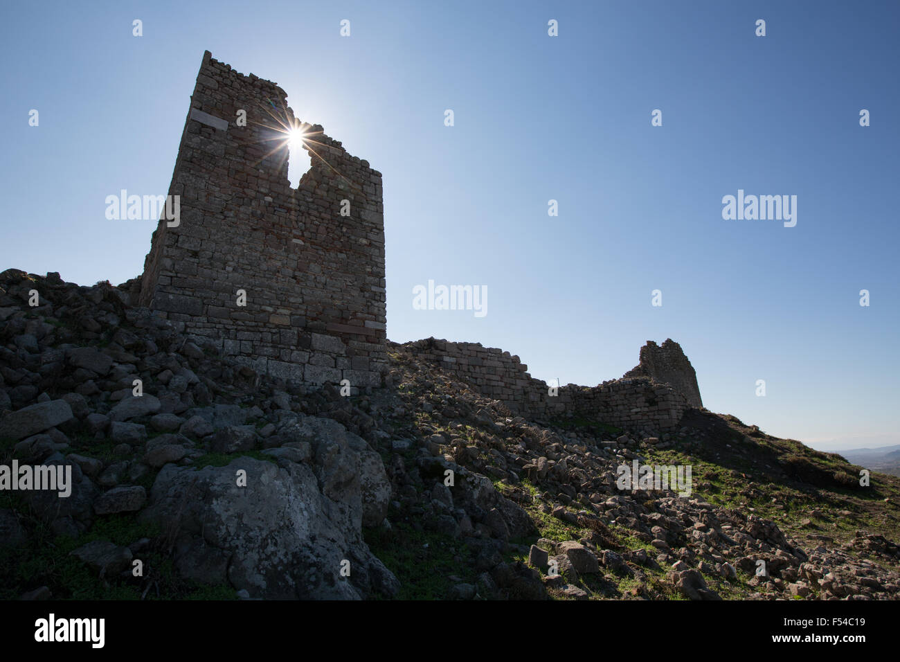 The UNESCO World Heritage Hellenistic Greco-Roman site of the Pergamon acropolis, near Bergama, in Izmir Province, - Stock Image