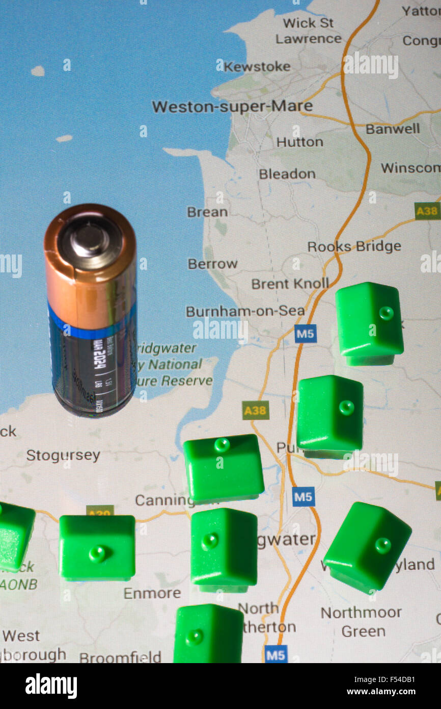 Hinkley Point C Reactor Concept picture to illustrate issues with the new somerset nuclear reactor plant - Stock Image